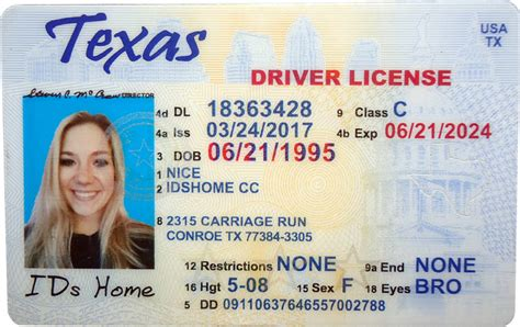 texas fake id id template choice image template design ideas