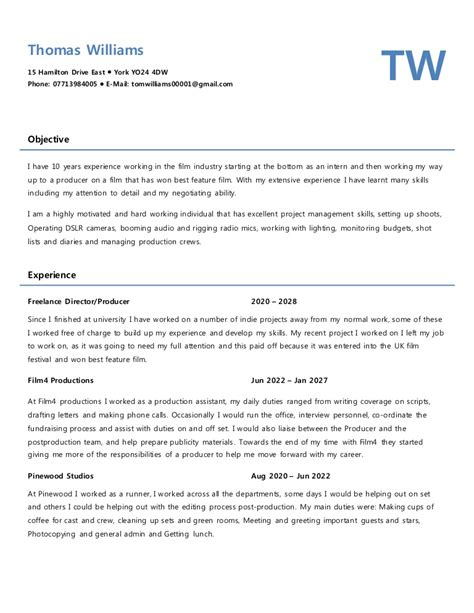Mock Resume by Mock Cv