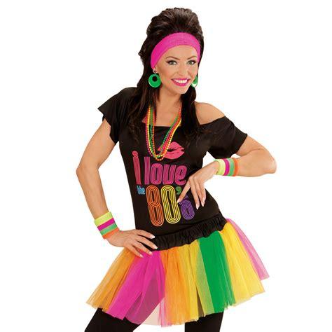 mode 80 jahre neon tutu damenrock petticoat mini rock 80er jahre mode r 252 schen minirock kost 252 m ebay
