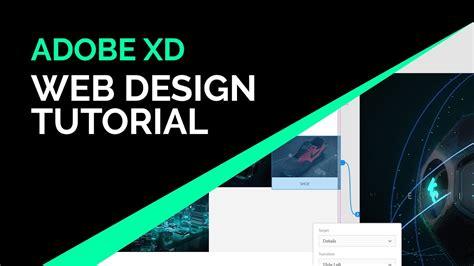adobe xd web design tutorial youtube