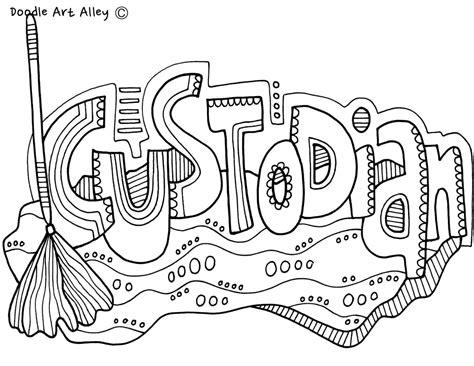 school community classroom doodles