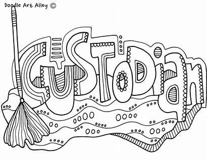 Coloring Pages Classroom Doodles Appreciation Community Doodle