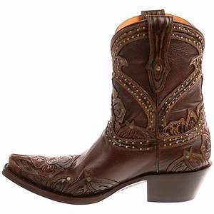 Lucchese Tooled Petal Cowboy Boots (For Women) 9300Y