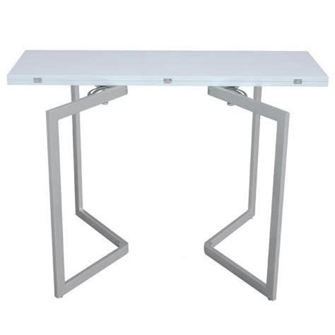 console extensible blanche laquee table console extensible blanche laqu 201 e talia achat vente ensemble salle a manger pas cher