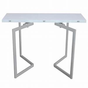 Console Blanche Pas Cher : table console extensible blanche laqu e talia achat ~ Dailycaller-alerts.com Idées de Décoration