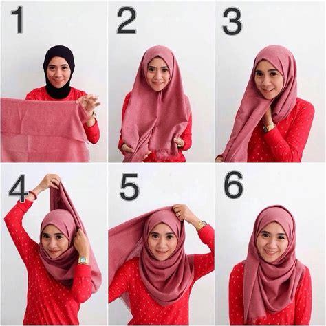 tutorial model hijab pashmina simple terbaru