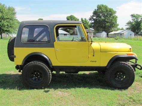 cj jeep yellow purchase used 1984 jeep cj7 v8 304 automatic wrangler 4x4