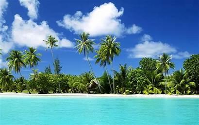 Beach Desktop Tropical Resolution Backgrounds Background Widescreen