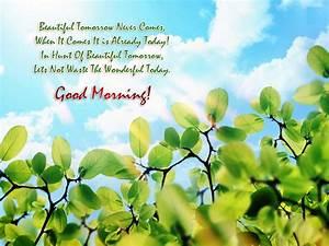 Beautiful Morning Quotes Wallpaper Wallpaper