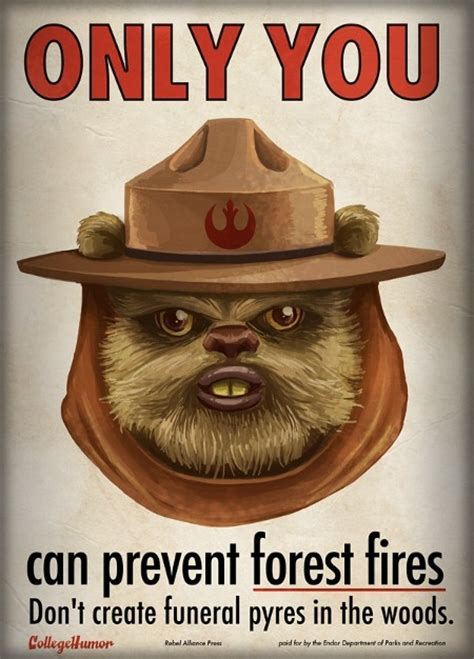 Only You Can Prevent Forest Fires Meme - meme classics only you can prevent forest fires ewok version