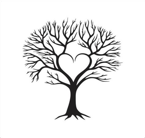 tree heart family vector instant digital  cutting