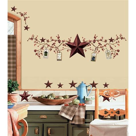 country kitchen wall decor ideas berries wall decals country kitchen stickers