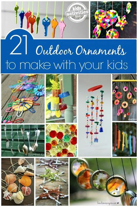 yard ornaments to make 21 outdoor ornaments for kids to make homemade happy and homemade wind chimes