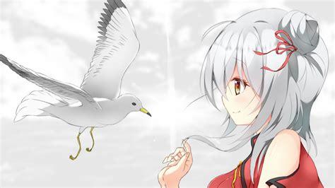 Download 1920x1080 Anime Girl Profile View White Hair