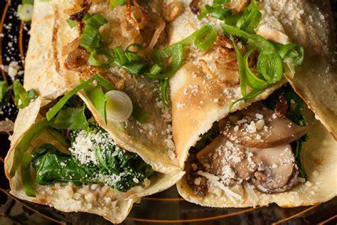 Mushroom, Spinach, And Parmesan Crêpes Recipe Chowhound
