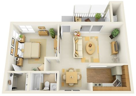 1 Bedroom ApartmentHouse Plans smiuchin