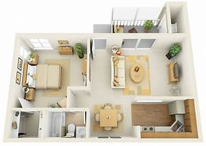 1, Bedroom, Apartment, House, Plans