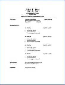 basic outlines basic resume outline sle job resume sles