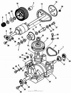 Simplicity 1692371  25  5hp Parts Diagram For Transmission  U0026 Rear Wheels Group