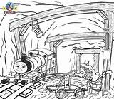 Train Thomas Engine Percy Friends Tank Adults Sodor Coloring Mountain Printable Worksheets Cartoon Mine Railroad Young Henry Sir Colouring Hatt sketch template