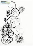 Fresh Rose Vine Tattoo...