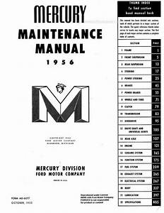 1956 Mercury Shop Manual   Repair Book