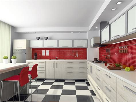 Our Snappy Red Kitchen, Classic And Load  Contemporary