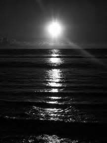 Black and White Sunset Photography