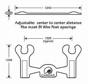 cardas jumpers a placca per diffusori con bi wire set di With bi wiring jumper