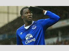 Everton's Romelu Lukaku dabs after scoring goal vs Stoke