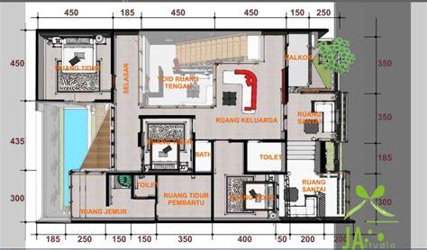 gambar denah rumah mewah minimalis modern terbaru