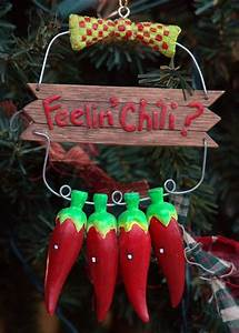 Southwestern Feelin39 Chili Hot Pepper Christmas Ornament