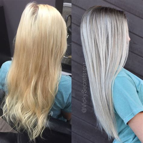 Shimmer Lights Shoo Before And After by 17 Best Images About Gray Silver White Hair On