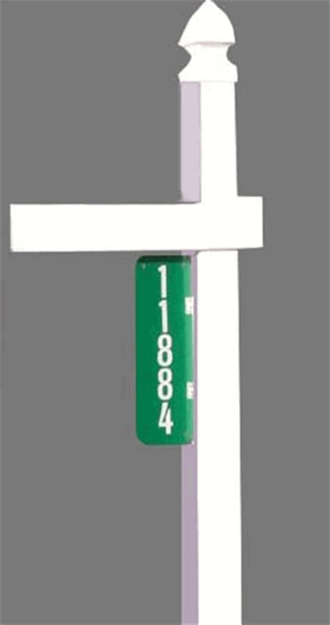 Select a private mailbox address at any ipostal1 virtual mailbox locations. Vertical Address Plaque in Green and White for PVC Rural Mailbox Post