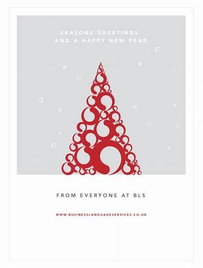 Greetings Seasons Season Business Language Card Christmas
