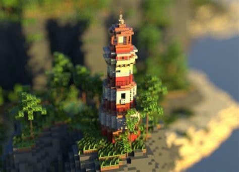 friend   built  fishing bay featuring  lighthouse minecraft   minecraft