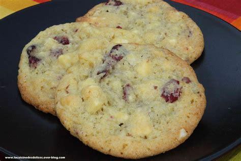 tablette recette cuisine cookies noix de macadamia cranberries chocolat blanc la