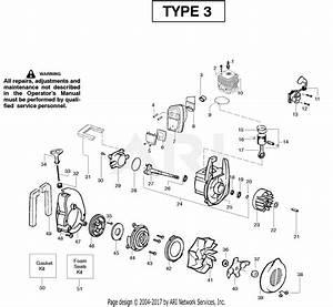 Poulan Bv2000le Gas Blower Type 3 Parts Diagram For Engine