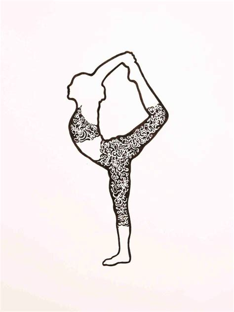 yoga drawings images  pinterest yoga