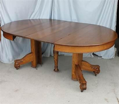 Table Oak Round Antique Dining Leaves Diameter