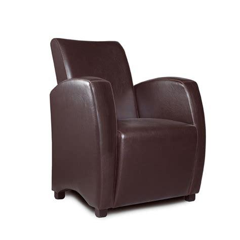 fauteuil club en simili cuir marron