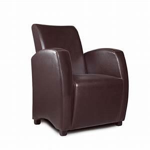 Fauteuil Crapaud Cuir : fauteuil club en simili cuir marron ~ Teatrodelosmanantiales.com Idées de Décoration