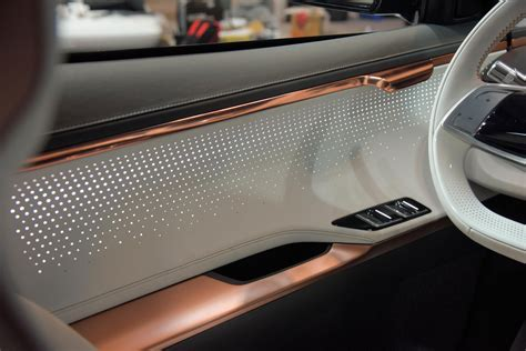 kia niro ev concept interior detail door panel car body
