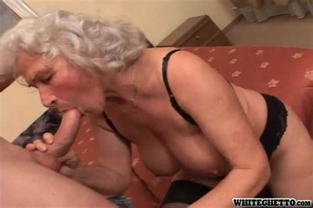 #Grey #Haired #Granny #In #Sexy #Lingerie #Getting #Pumped