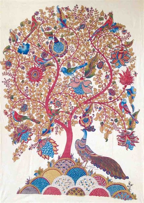 Tree of Life with Peacock by artist Niranjan Jonnalagadda ? Folk, Painting   Mojarto   173309