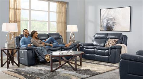 blue leather sofa living room navy blue gray white living room furniture ideas decor