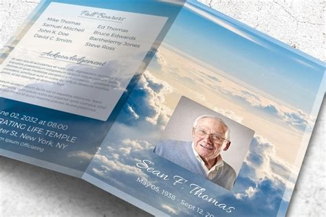 uplifting memorial program      skies