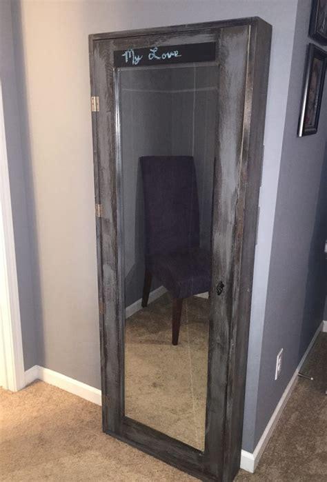 diy bathroom mirror storage case shanty  chic