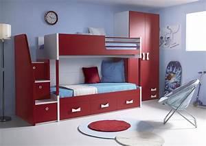 Lit Avec Armoire : lit superpos avec armoire table de lit a roulettes ~ Teatrodelosmanantiales.com Idées de Décoration