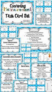 Measurement Conversion Task Card And Poster Set
